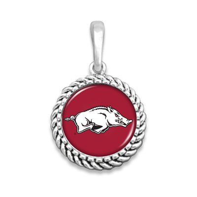 Arkansas Razorbacks Easy-O Zipper Pull Charm