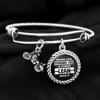 When Life Throws You A Curve, Lean Into It Charm Bracelet