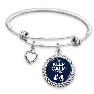 Keep Calm I Can Interpret Charm Bracelet