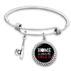 Home Is Where The Field Is Baseball Charm Bracelet