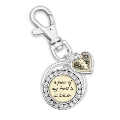 Piece Of My Heart Charm Key Chain
