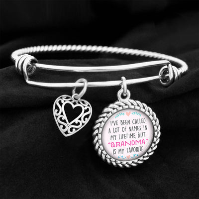 Grandma Is My Favorite Name Charm Bracelet