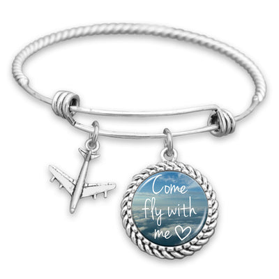 Come Fly With Me Charm Bracelet