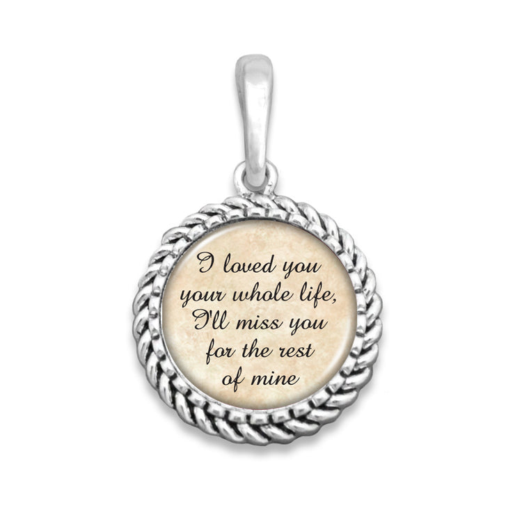 Loved You Your Whole Life Easy-O Zipper Pull Charm