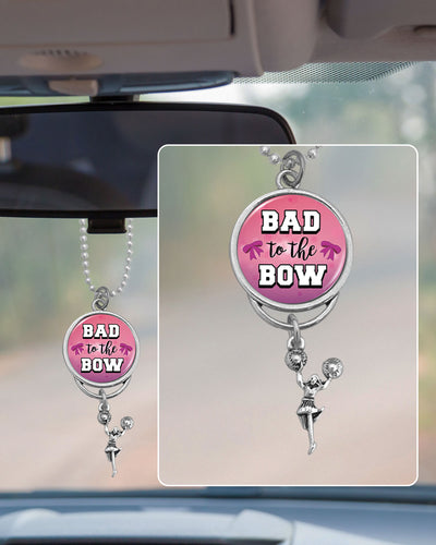Bad To The Bow Rearview Mirror Charm
