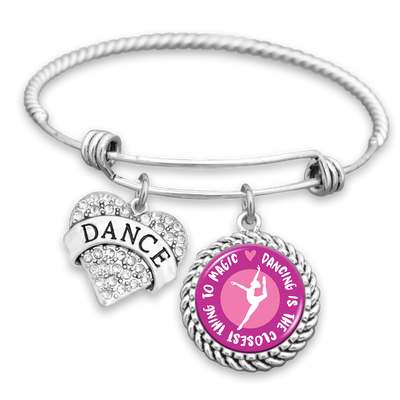 Dancing Is The Closest Thing To Magic Charm Bracelet