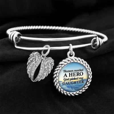 Heaven Needed A Hero Daughter Charm Bracelet