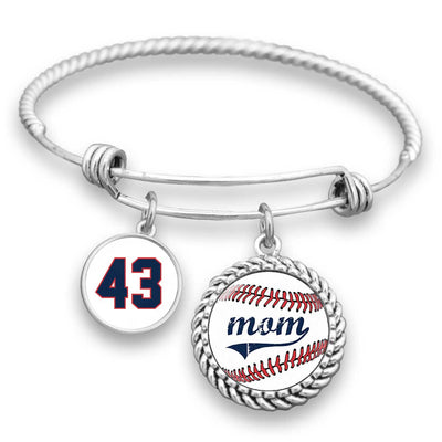 Baseball Mom Personalized Number Bracelet