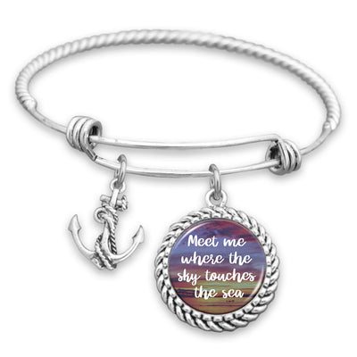 Meet Me Where The Sky Touches The Sea Clasp Bracelet