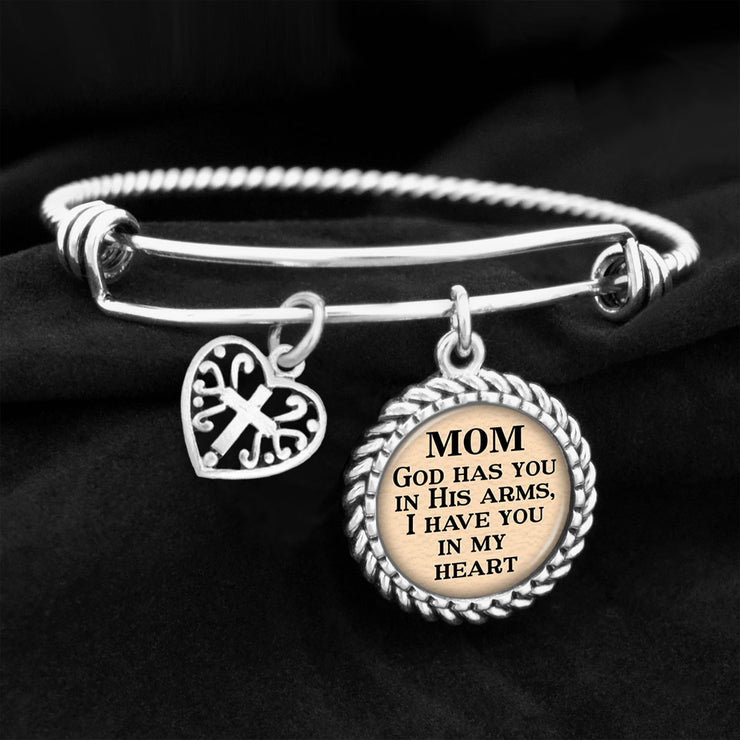 Mom God Has You In His Arms Charm Bracelet