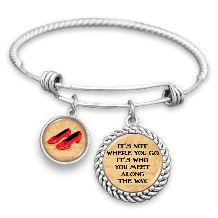 It's Not Where You Go, It's Who You Meet Along The Way Charm Bracelet
