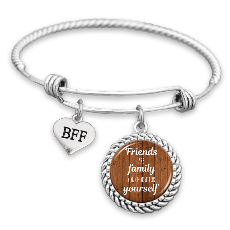 Friends Are The Family You Choose For Yourself Charm Bracelet