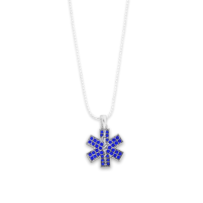 Star Of Life Charm Ball Link Heart Necklace
