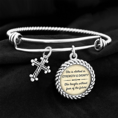 She Is Clothed In Strength And Dignity Charm Bracelet