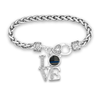 LOVE Thin Blue Line Flag Police Clasp Bracelet