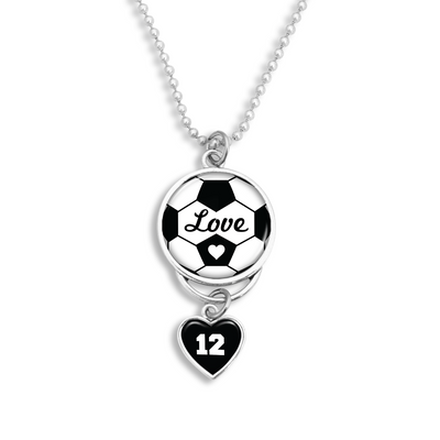 Customizable Soccer Love Rearview Mirror Charm