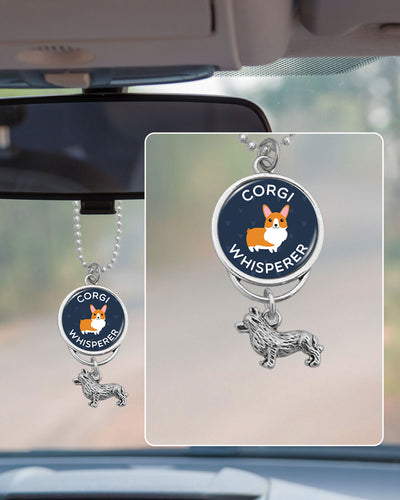 Corgi Whisperer Rearview Mirror Charm