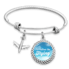 I'd Rather Be Flying Charm Bracelet