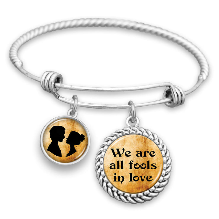 We Are All Fools In Love Charm Bracelet