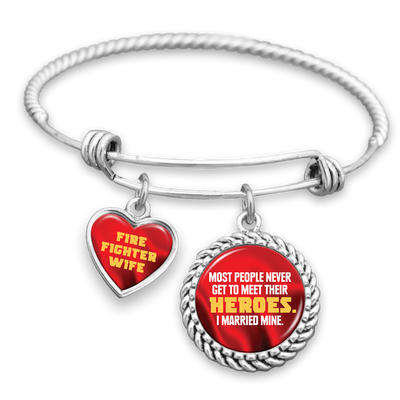 I Married My Hero Firefighter Charm Bracelet
