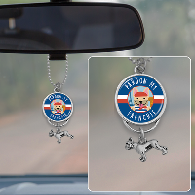Pardon My Frenchie Rearview Mirror Charm