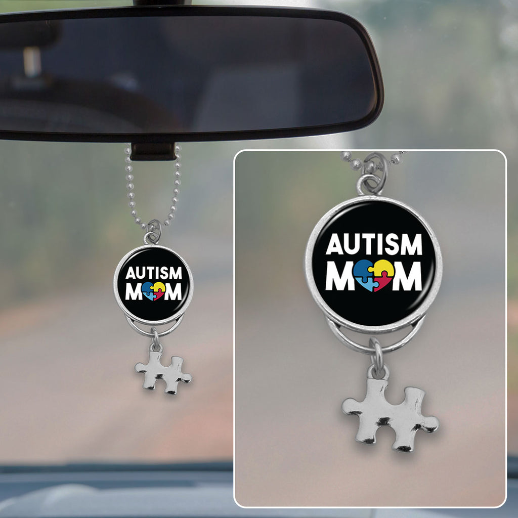 Autism Mom Awareness Rearview Mirror Charm