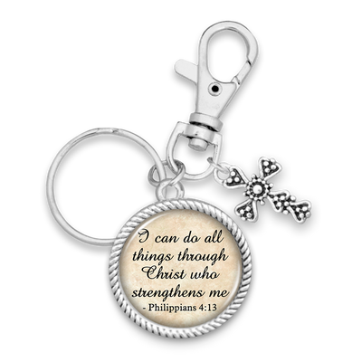 I Can Do All Things Philippians 4:13 Charm Key Chain