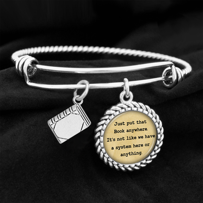 Just Put That Book Anywhere Charm Bracelet