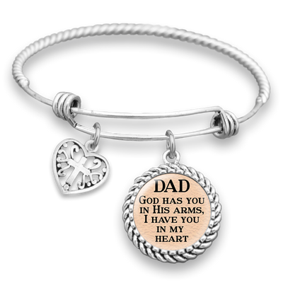 In His Arms Dad Charm Bracelet