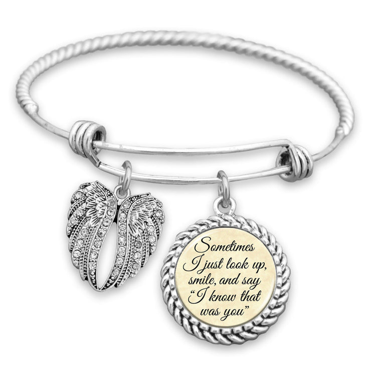I Know That Was You Angel Wings Charm Bracelet