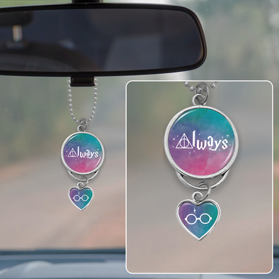 Watercolor Hallows Always Rearview Mirror Charm
