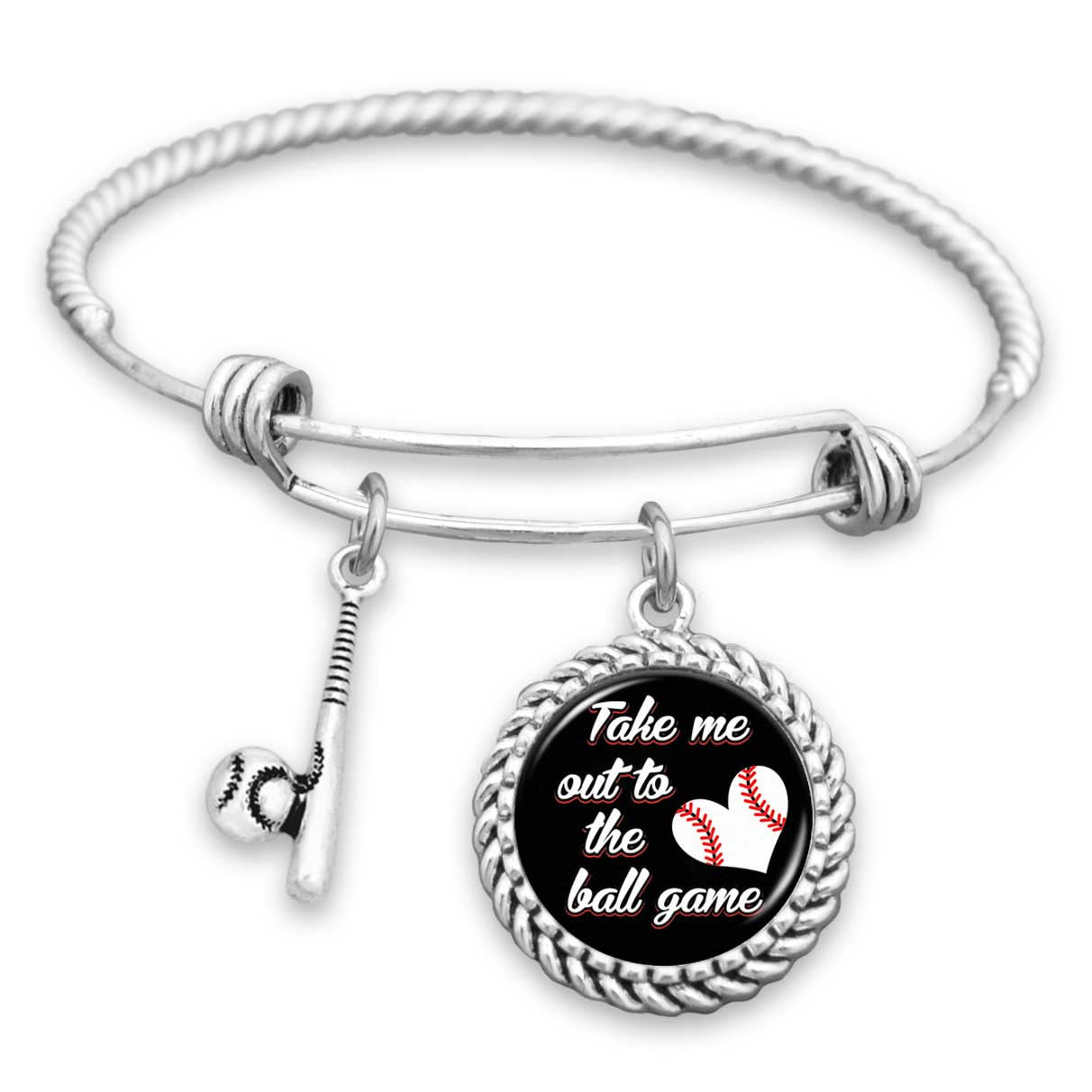 Baseball Charm Bracelet: Take Me Out To The Ball Game Baseball Charm Bracelet