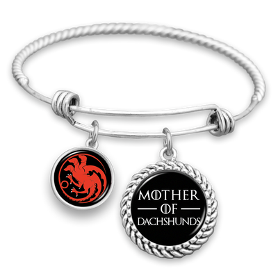 Mother Of Dachshunds Charm Bracelet