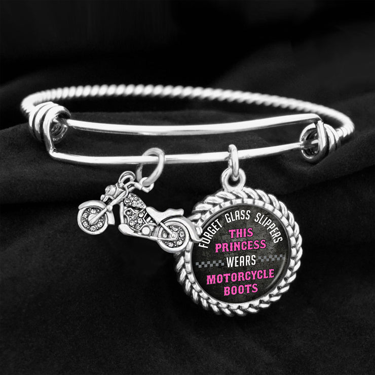 Forget Glass Slippers, This Princess Wears Motorcycle Boots Charm Bracelet