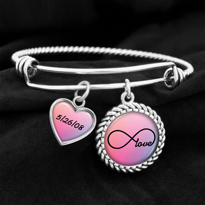 Customizable Infinity Love Charm Bracelet