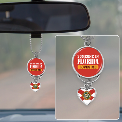 Someone In Florida Loves Me Rearview Mirror Charm
