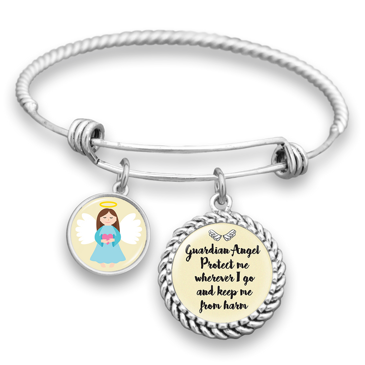 Guardian Angel Protect Me Charm Bracelet