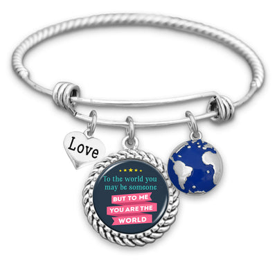 To Me You Are The World Charm Bracelet