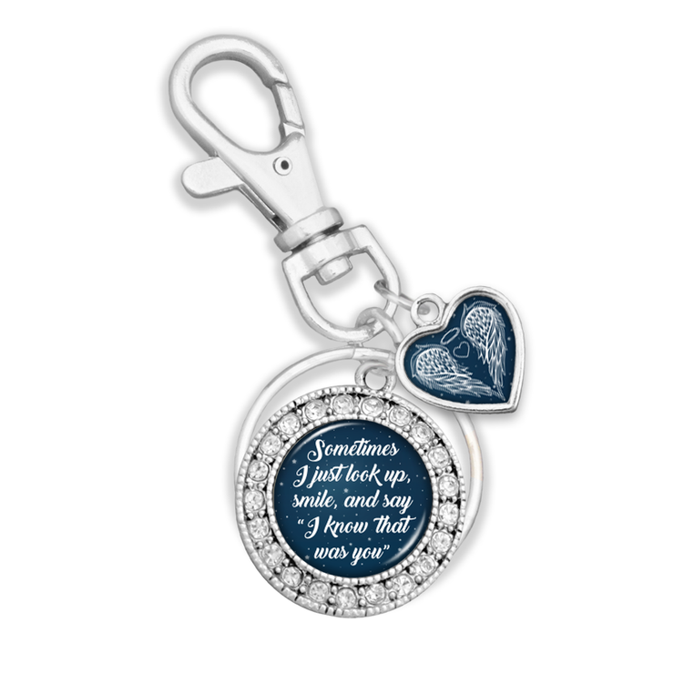 I Know That Was You Night Sky Key Chain