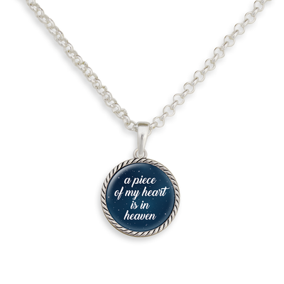 A Piece Of My Heart Is In Heaven Night Sky Necklace