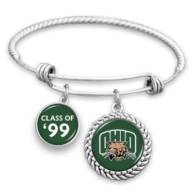 "Customizable Graduation Year ""Class Of"" Ohio Bobcats Charm Bracelet"
