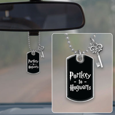 Portkey Dog Tag Rearview Mirror Charm