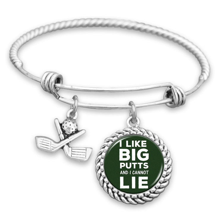 I Like Big Putts and I Cannot Lie - Golf Charm Bracelet