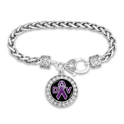 Domestic Violence Awareness Crystal Clasp Bracelet