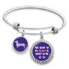 Dachshund The Road To My Heart Is Paved With Paws Charm Bracelet