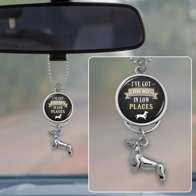Friends In Low Places Dachshund Rearview Mirror Charm