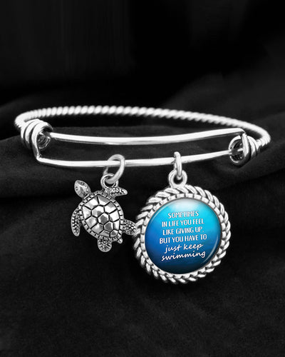 You Have To Just Keep Swimming Charm Bracelet