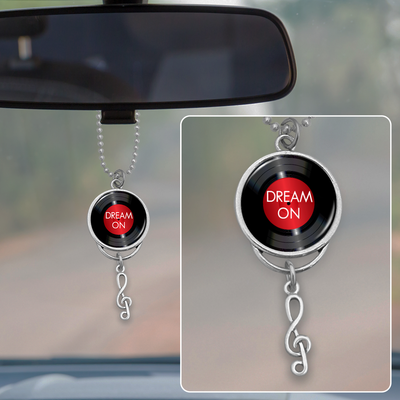 Dream On Vinyl Record Rearview Mirror Charm