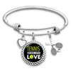 Tennis Begins With Love Charm Bracelet