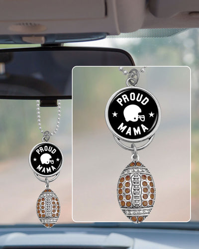Proud Football Mama Rearview Mirror Charm